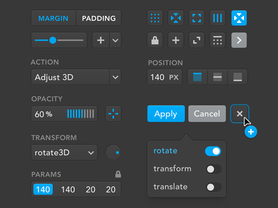 Dark UI Elements controls ui design uikits user interface uikit uidesign ui minimalist icons icon elements control clean design system ui kit buttons button avenir application application ui