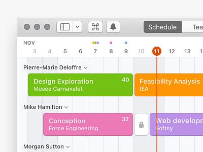 Mac App - old style toolbar dark calendar schedule window ui mac osx nswindow macos x macosx mac os macos mac icons icon desktop cocoa application appkit app
