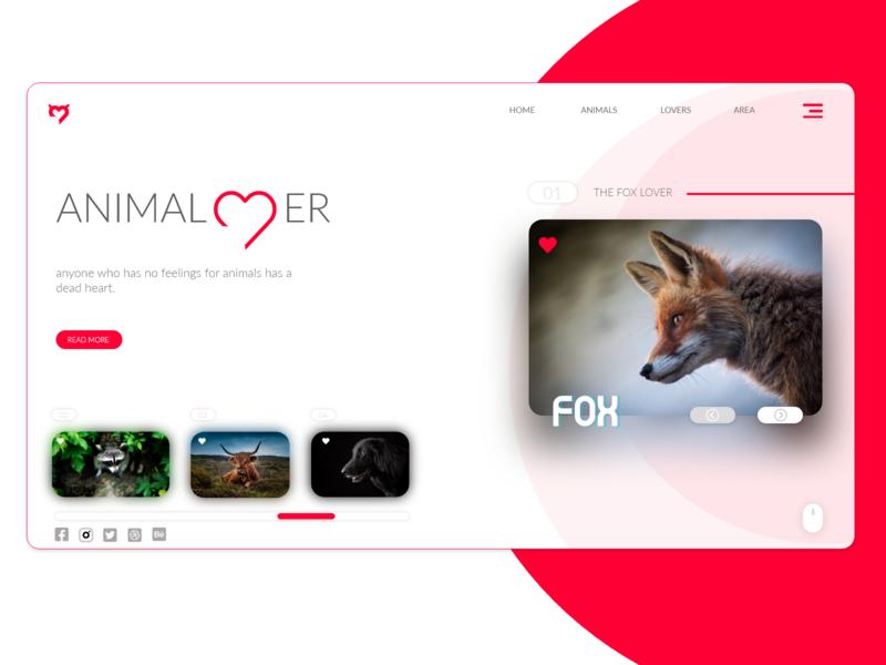 Animal lover concept website. ui logo uiux web design website animal natural concept creative attractive adobe xd