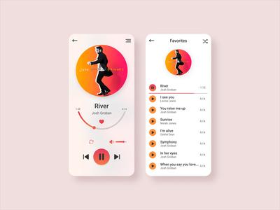 Music player ux design ui design ux ui mobile ui ux player playlist music player mobile ui app design