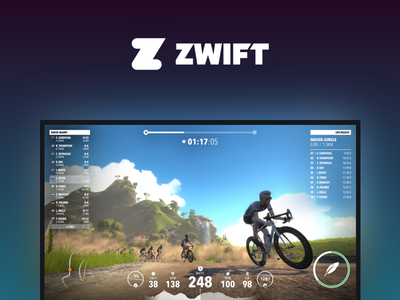 Zwift Cycling App Redesign road gauges powerup trainermap training minimal clean redesign app cycling zwift