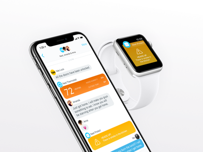Nest Chat Integration prototype watchos ios applewatch iphonex protect thermostat chat messaging nest