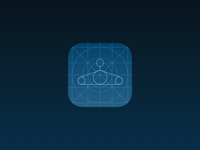 Closet App -  WF Icon closet hanger blueprint wireframe icon