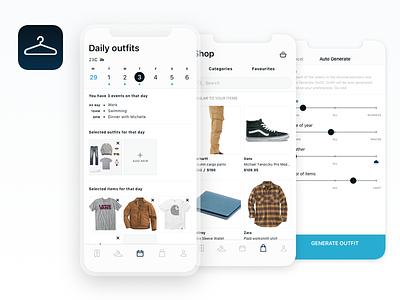 Closet App forguys calendar generate carhartt vans styling outfit hanger application iphone app closet