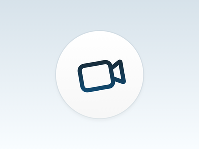 Video App clear simple clean white icon app video