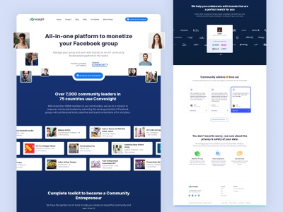 Convosight Landing Page - Monetization based web motiondesign branding webdesign landingpage uxdesign uidesign website design ux ui