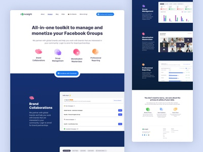 Convosight - Product Landing Page visual design branding user interface user experience redesign convosight website web design product page design landing page ux ui