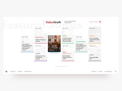 The NakedTruth - Web Design blog web nakedtruth branding ui ux