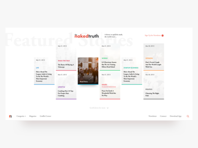The NakedTruth - Web Design blog web nakedtruth branding ui ux