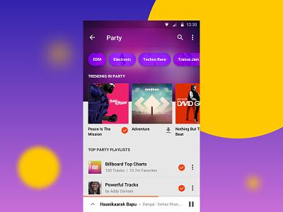WIP - Genre Page emotions genre simplified music player mobile app music gaana ui ux