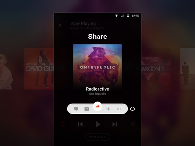 [Concept] Player Quick Actions actions mobile interface ux ui music