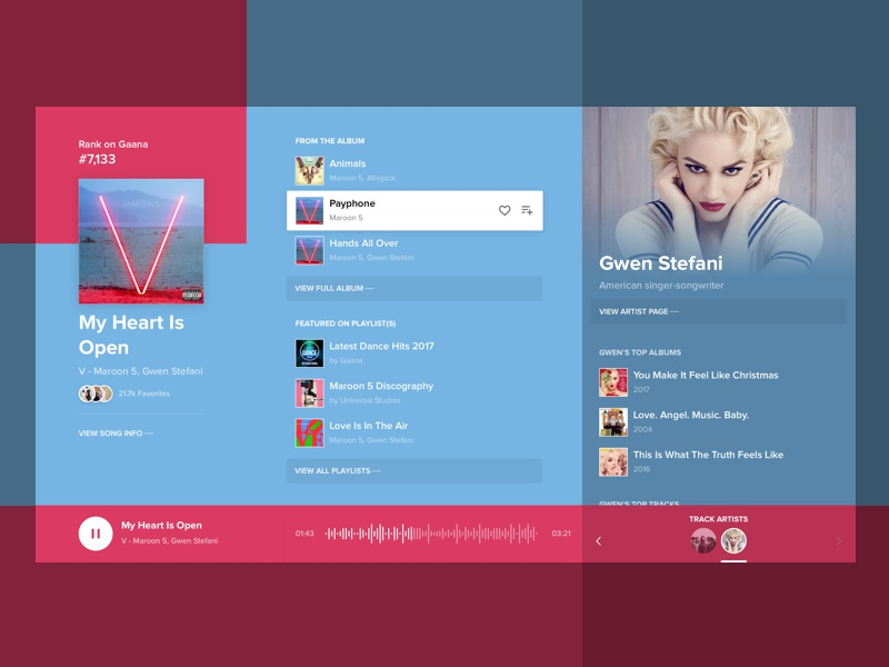 Player - Now Playing Explorer [Concept] explore music ux ui