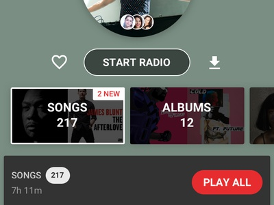 New Gaana Detail Pages music player gaana mobile ux music ui
