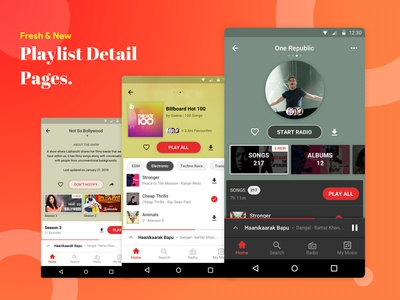 Tanmay Saxena / Projects / Gaana Designs & Concepts | Dribbble