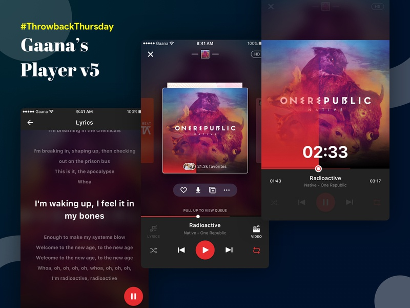 Gaana Player - v5 gamification engagement music player app gaana mobile music ux ui