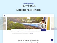 Concept Design - IRCTC Website website railways travel ux ui