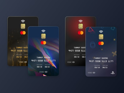 Cards Design Concepts for Regular & Co-branded Cards branding credit cards visual design finance