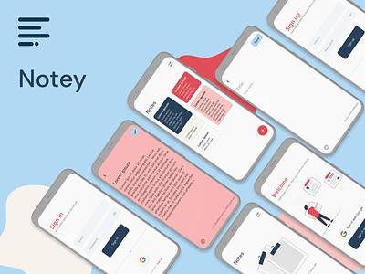 Notey ui flutter minimalism minimalist minimal mobile app design mobile design mobile app mobile ui notes note