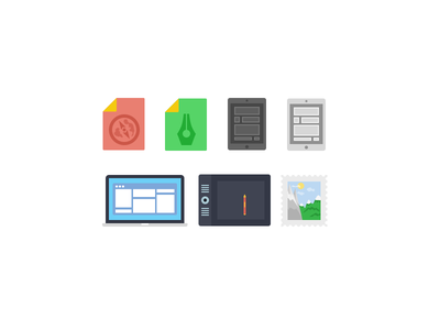 Some Icons icons flat devices ios mac ipad pen wacom stamp macbook