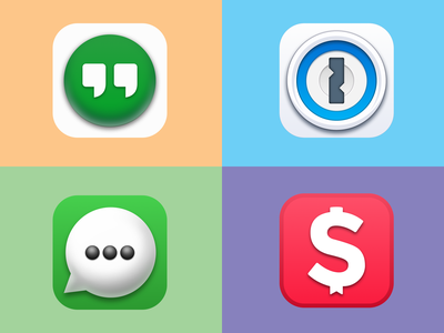 macOS Big Sur Replacement Icons hangouts whatsapp moneycoach design apple google 1password macos icons