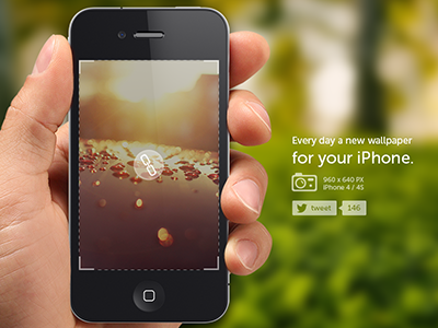Daily wallpapers for iPhone ios apple wallpapers walls hand iphone 4 green download project personal