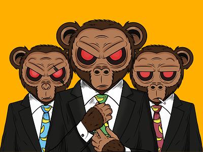 Apes colors vector process character 2d design illustration branding apes monkeys graphic design
