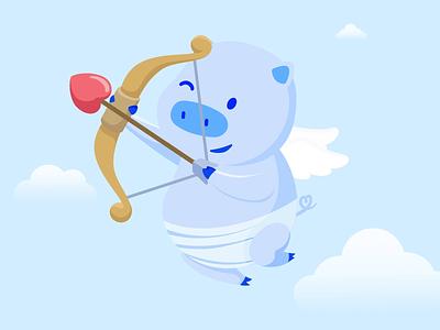 Valentine's Animation love animation after effects vector art motion graphics pig animation design design illustration