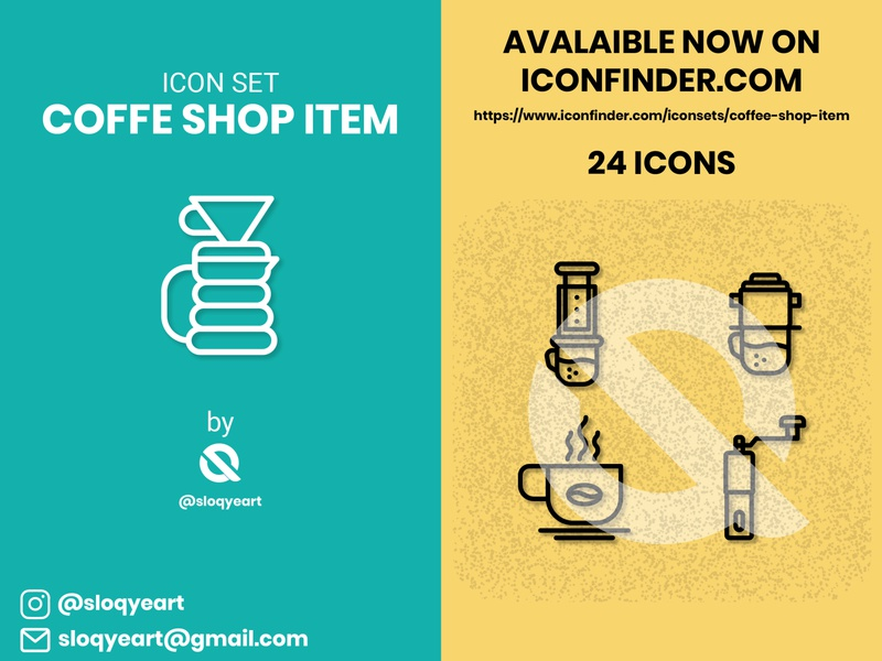 Coffee Shop Item 2 illustration coffee vector branding design icon set icon