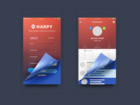 Harpy Wireframe / Screen Presentation