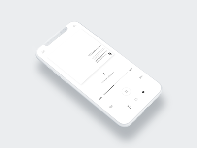 Daily UI / Day 009 mobile band music simple music player 100daysofui dailyui