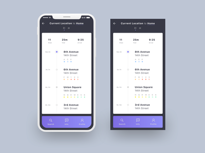 Daily UI / Day 020 sketch iphone x mta subway location tracker 100daysofui dailyui