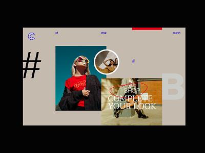 Online Shop design minimalist ecommerce typography modern minimal photography layout