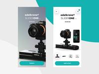 Edelkrone E-commerce UI Concept