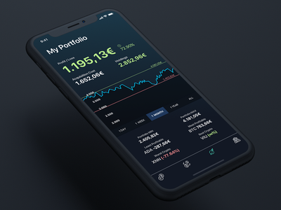 Crypto portfolio app investment trading ios iphone x app portfolio bitcoin cryptocurrency crypto