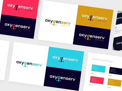 OxygenServ Branding startup branding startup logo typography design icon colorful iconography oxygen logo design logo branding and identity branding