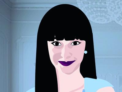 Lucrezia portrait art miss mademoiselle girl lady portrait painting portrait illustration portrait illustrator