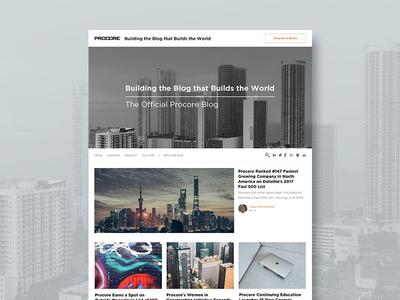 Procore Blog Redesign blog