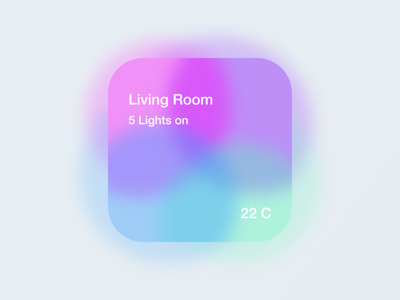 Home tile 2.0 neomorphic philips hue ios neuomorphism iphone hue smart home home automation home app ui mobile app
