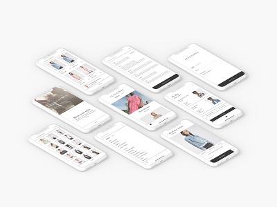 AllSaints app bag iphone london clothing brand fashion ecommerce app allsaints ux ui mobile ios app