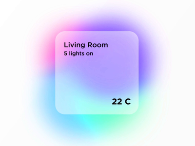 Home Tile invision studio hue philips hue smart home tile gradient home app home automation iphone ux ui mobile ios app