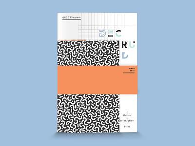 (de)constructed print program typeface font experimental daap exhibition show magazine brochure type print deconstruct typography