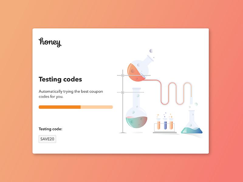 Honey Lab Testing chemicals fun color gradient lab testing illustration