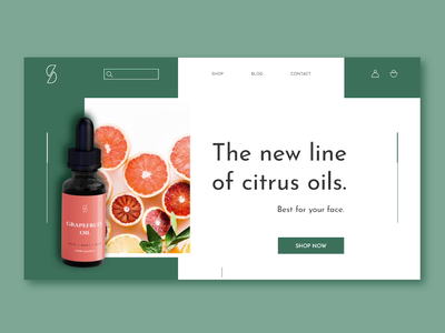 Challenge 20/30 green practice cosmetics citrus animation concept animated ui shop motion ecommerce ui ui design daily challange challenge