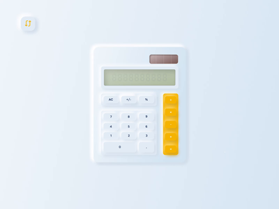 Daily UI#4 calculator ui skeuomorphic design minimal animation ui dailyui