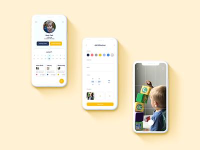 Xplor Childcare SAaS Concept education childcare ux uiux minimal design app ui dailyui