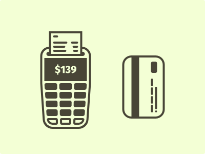 Payment bill pay credit debit card credit card illustration icon terminal payment