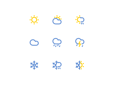 Minimal Weather Icon Set weather icons weather icons icon set minimal minimalism simple inkscape