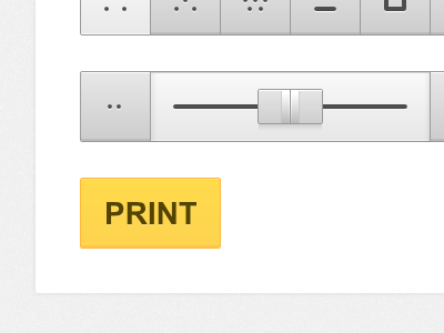 Just another boring form web app form ui user interface gray subtle button slider