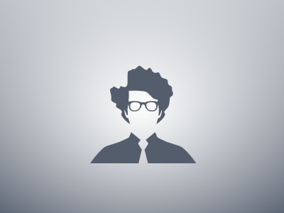Default Guy placeholder vector inkscape default guy default blue geek nerd nerd glasses cool hair it guy avatar