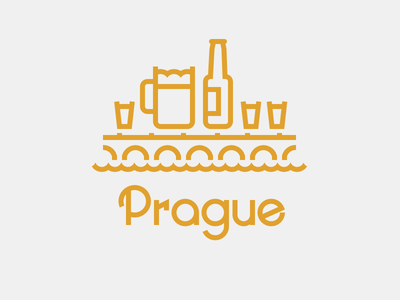 Prague02 ugly schnaps potato vodka vodka beer landscape city graphics inkscape vector typography illustration line prague